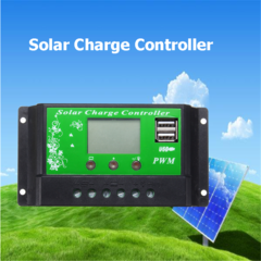 10A PWM LCD Solar Panel Battery Regulator Charger  Multicolor Normal