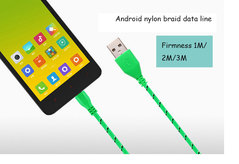Factory 1/2/3 M Android data line 5s/6/8 Color nylon braided data line Smart phone USB line orange 1M