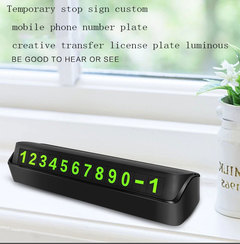 Temporary stop sign custom mobile phone number plate creative transfer license plate luminous black one size