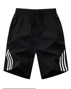 Summer thin three-bar shorts men's sweatpants black xl