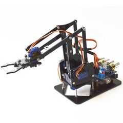 DIY 4DOF Robot Arm 4 Axis Acrylic Rotating Mechani Multicolor Normal