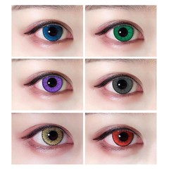 Large Diameter Eyes Cosmetic Colored Contact Lense Gray One size