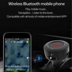 Car Hands-free Bluetooth Stereo Music MP3 Player F Black one size