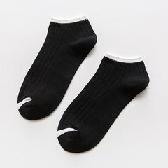 春夏日系船袜女袜女士袜子全棉袜襪子 Spring and summer socks, women's socks, women's socks, cotton socks, cotton socks black average code average code