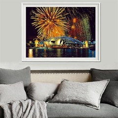 5D Diamond Painting Sydney Fireworks Embroidery Cr Multicolor Normal