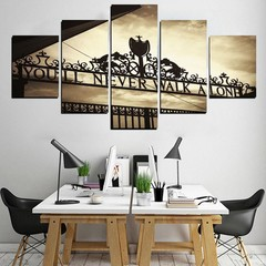 5Pcs You'll Never Walk Alone Liverpools Canvas Pic Multicolor Normal