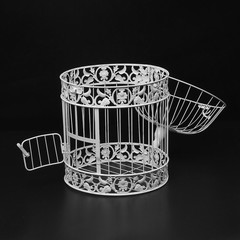 White Iron Birdcage Bird Cage Wedding Center Piece L Normal