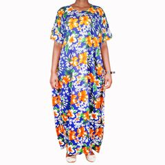 coasterian Dera Dress free size Blue flowery