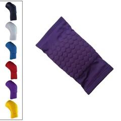 Sports Men Honeycomb Pad Knee Sleeve Support Brace Yellow L