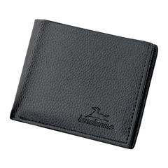 Men's short wallet wallet classic fashion retro wallet black