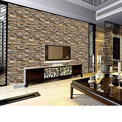Rustic 3D Effect Wallpaper Brick Stone Self-adhesi one color one size