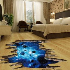 Creative Removable Galaxy Planet Home Room DIY Flo one color one size