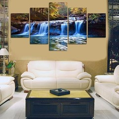 5 Pcs/Set Unframed Waterfall Wall Art Pictures for one color one size