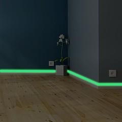 Luminous Tape Wall Sticker DIY Glow Dark Warning T one color 2*400cm