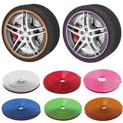 8m Auto Car Tire Tyre Rim Care Protector Hub Wheel Purple one size