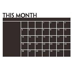 DIY Month Calendar Blackboard Wall Sticker Waterpr one color one size