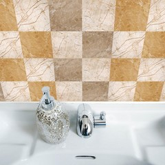 10Pcs Marbling Effect Removable Decal Tile Wall Ar one color 20*20cm