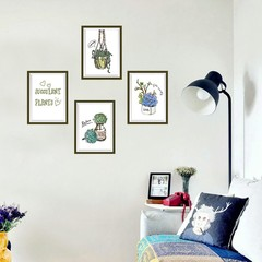 Fashion Home Bedroom Decor DIY Hand-Painted Green  one color one size