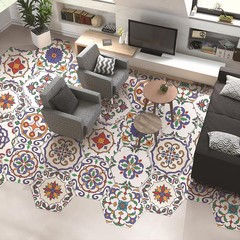 10Pcs/Set Morocco Style Hexagon Anti-slip Tile Sti one color one size