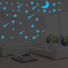 108Pcs Luminous Stars Glow in The Dark Ceiling Wal one color one size