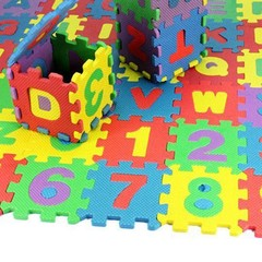36Pcs/Set Child Kids Novelty Alphabet Number EVA F Multi-Color one size