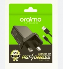 3 Pin Fast charger (Tecno, Infinix, Huawei, Samsung phones) Black 5V 2A