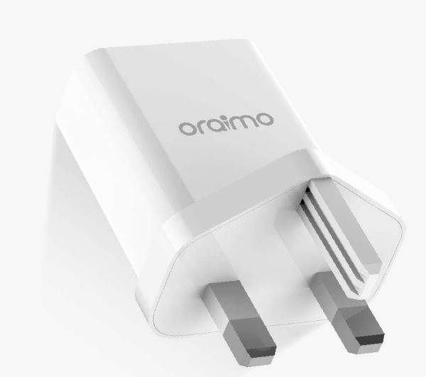 Cannon  3 Pin Fast charging (Tecno, Infinix, samsung , huawei phones) white Fast charge