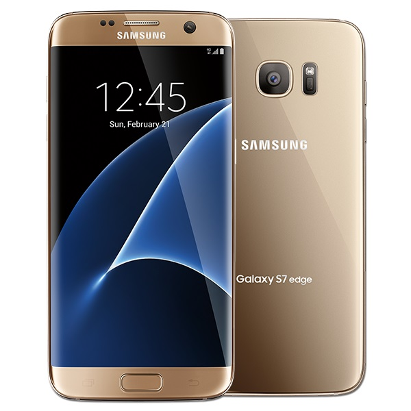 "Galaxy S7 Edge - 5.5"" - 32GB - 4GB - 12MP camera- Single SIM gold"