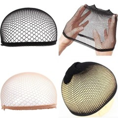 Stretch Cool Mesh Weaving Wig Cap Cloth Hair Nets  Complexion one size