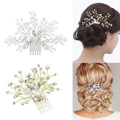 Wedding Bridal Bridesmaid Faux Pearls Hair Pins Cl Silver one size