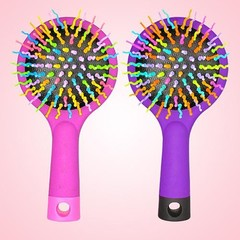Rainbow Comb Volume Brush Candy Tone Magic Hairbru one color one size