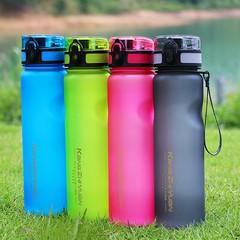 1000ml Sports Water Bottle Plastic Leakproof Drink Pink Normal