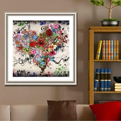30*30CM Flowers Full Drill 5D Diamond Painting DIY Multicolor Normal