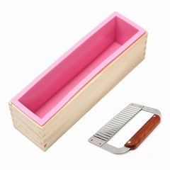 900g Loaf Soap Mould Silicone Wooden Mold DIY Soap Other Normal