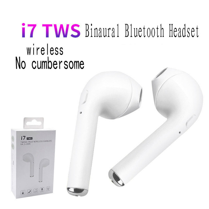 I Continuous Listening for 3 Hours Wireless Bluetooth Headset Stereo Tape Charging bin white