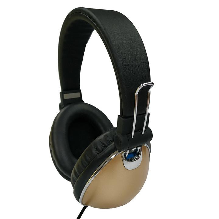 Creative Metal Christmas Gift Headphones Golden