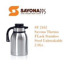 Sayona Stainless Steel Thermos Flask - SF 2162 - 2.0LT - Black