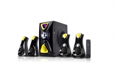 Sayona Subwoofer 4.1 CHANNEL Speakers 15500W P.M.P.O Black & Yellow