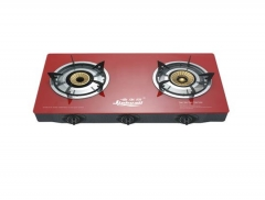 Sayona SB208 Automatic 2 Burner Table Top Gas Cooker Black or Red