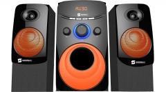 Subwoofer  channel 2.1 SHT-1203BT - 6000 PMPO USB,SD, black and orange