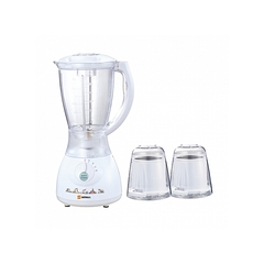 Sayona Blender with grating machine - 2 litre jug and (3-in-1)stainless steel blade White
