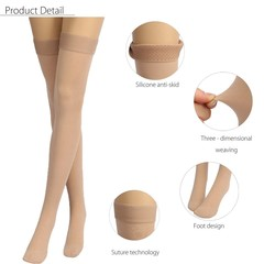 Skin Compression Thigh High Stockings Varicose Vei M Normal