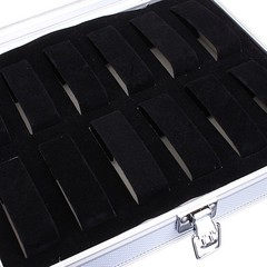 12 Grid Slots Aluminium Alloy Watches Box Containe Other Normal