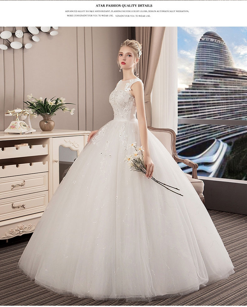 c705a69f6c 2019 new Simple style wedding large size Slim fit wedding dress Lace ...