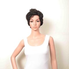 #1b,dl-809,Hot selling 100% huamn hair wig,Machine Made