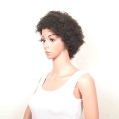 #1b,AFRO WIG,100% human hair,Very clean, smooth ,soft, comb easily.