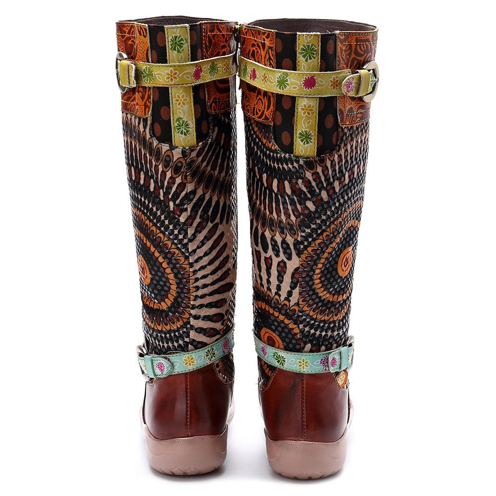 c53350cfdef2 Item specifics  Seller SKU 21120907254439945259358  Brand  Description   Women Retro Casual Leather Boots ...
