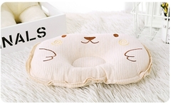 Newborn colored cotton shaped pillow  Baby head pillow white s
