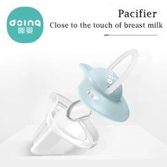 baby pacifier flat head silicone baby pacifier bite music newborn comfort pacifier sleep type Powder blue s