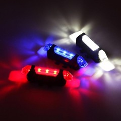 5 LED Rechargeable Bike Bicycle Cycling Tail Rear  Red one size